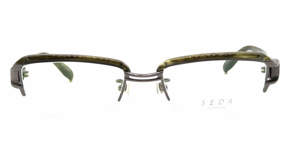 セダ SD-2169-04-53 [鯖江産/ハーフリム/スクエア/緑]