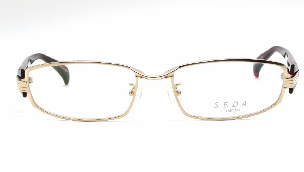 セダ SD-2180-03-55 [メタル/鯖江産/スクエア/ゴールド]