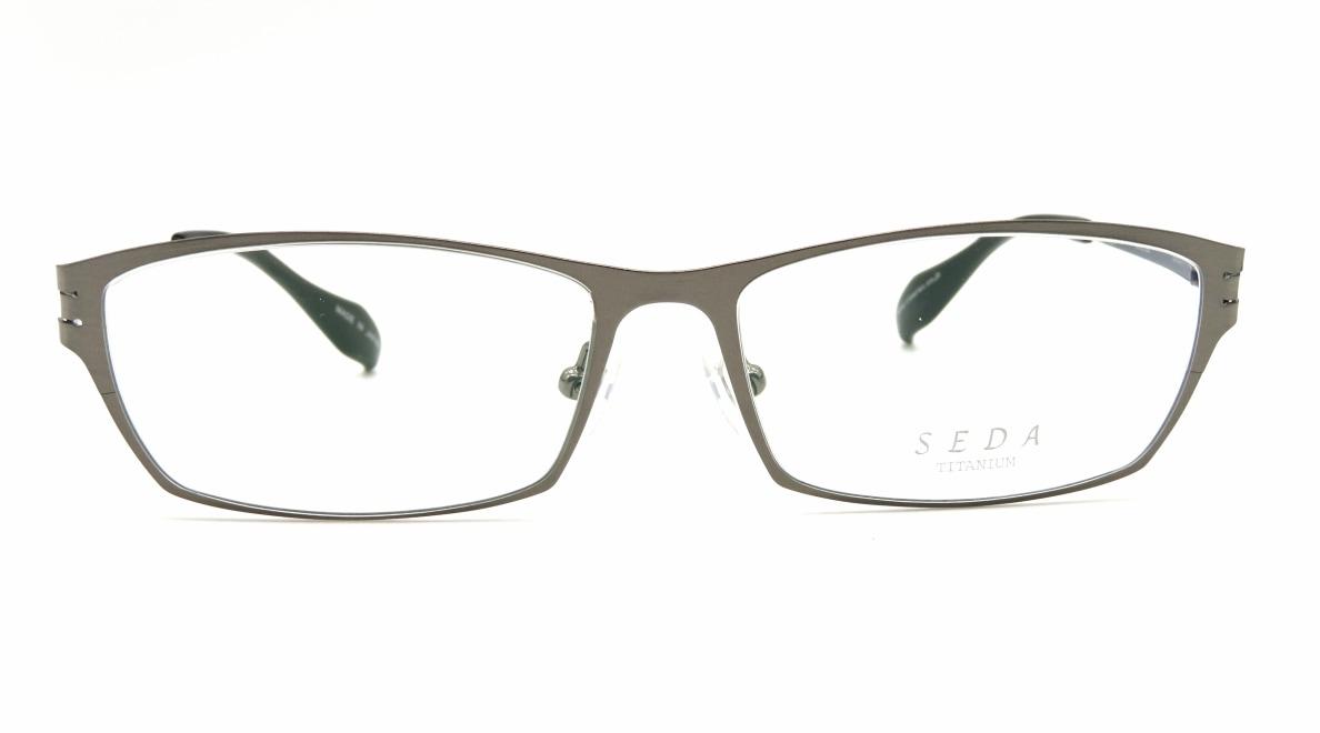 セダ SD-2186-02-55 [メタル/鯖江産/スクエア/シルバー]