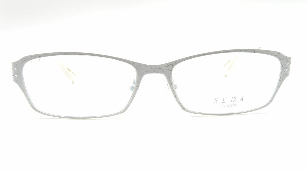セダ SD-2187-10-54 [メタル/鯖江産/スクエア/白]
