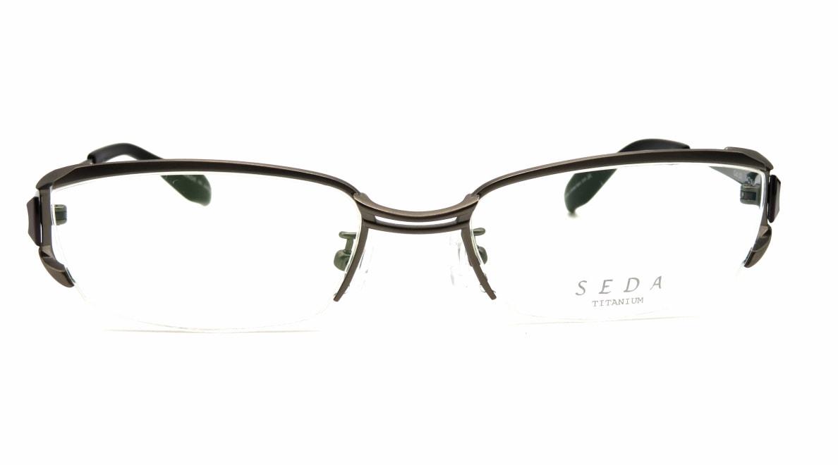 セダ SD-2194-02-54 [メタル/鯖江産/ハーフリム/スクエア/シルバー]