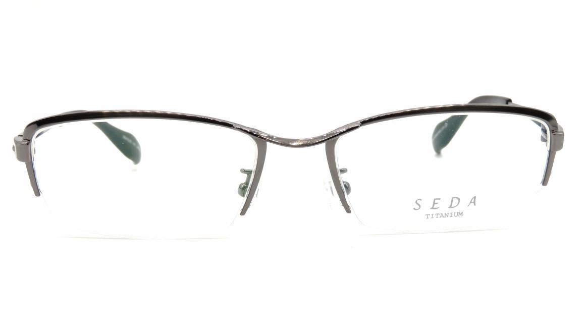 セダ SD-2197-02-54 [メタル/鯖江産/ハーフリム/スクエア/シルバー]