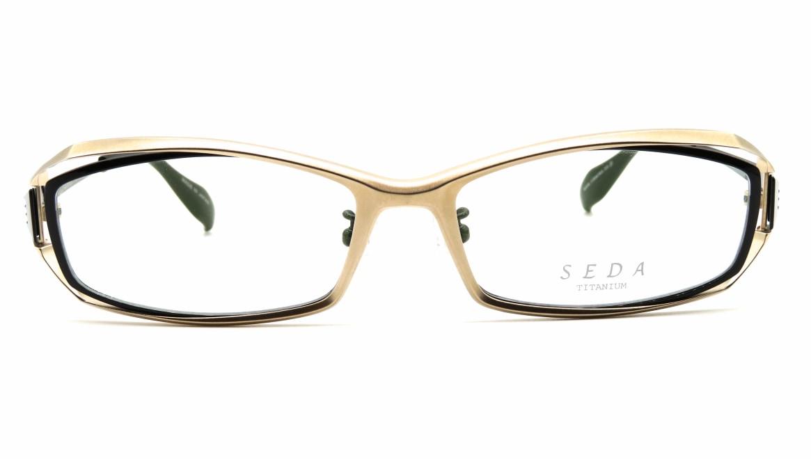 セダ SD-2200-03-56 [メタル/鯖江産/スクエア/ゴールド]