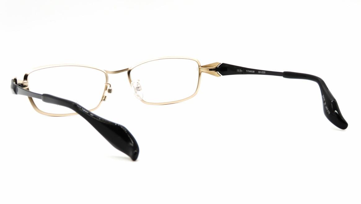 セダ SD-2220-03-54 [メタル/鯖江産/スクエア/ゴールド]  3