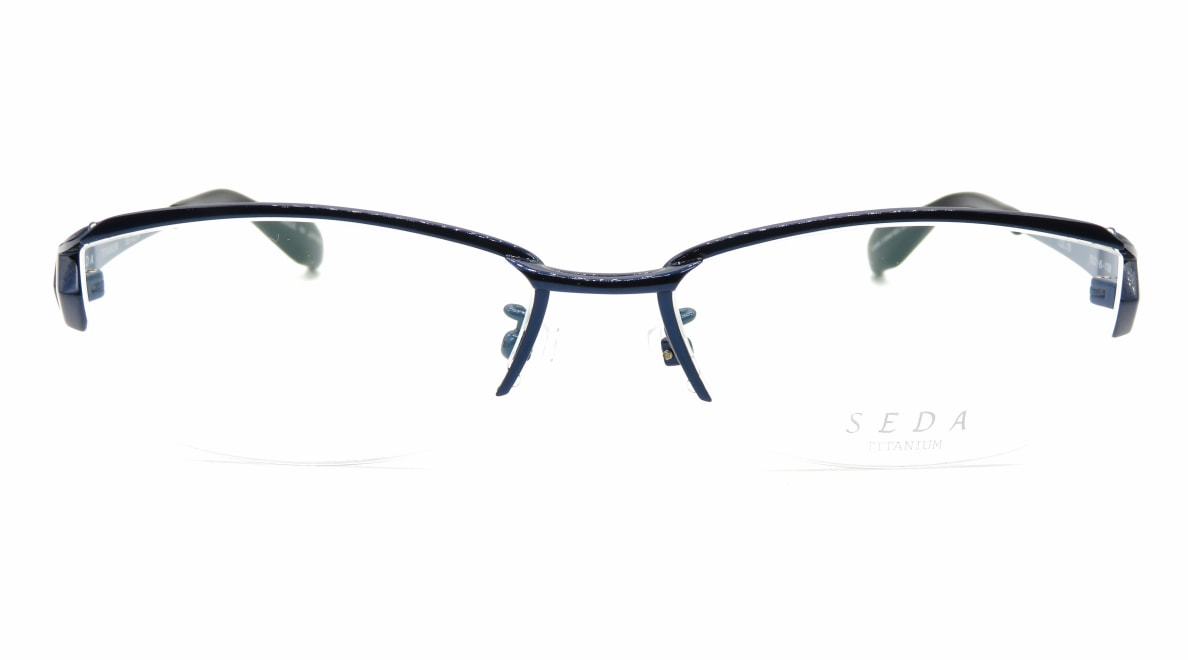 セダ SD-2234-03-55 [メタル/鯖江産/ハーフリム/スクエア/青]