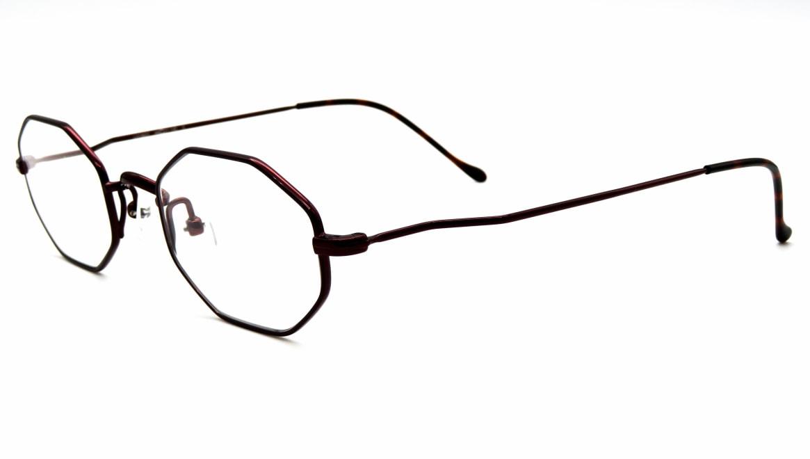 ユニオン アトランティック UA3603-6-44 [メタル/鯖江産/オーバル/茶色]  1