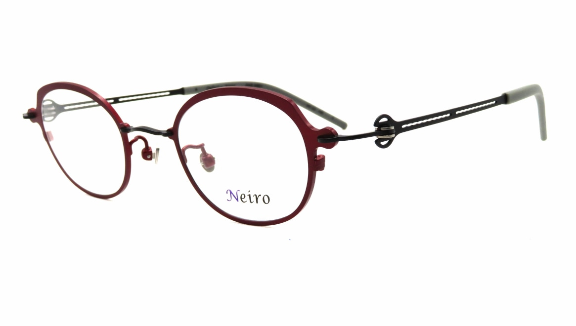 オンビートノネイロ ONB-N801-5ー44 [メタル/鯖江産/丸メガネ/赤]  1