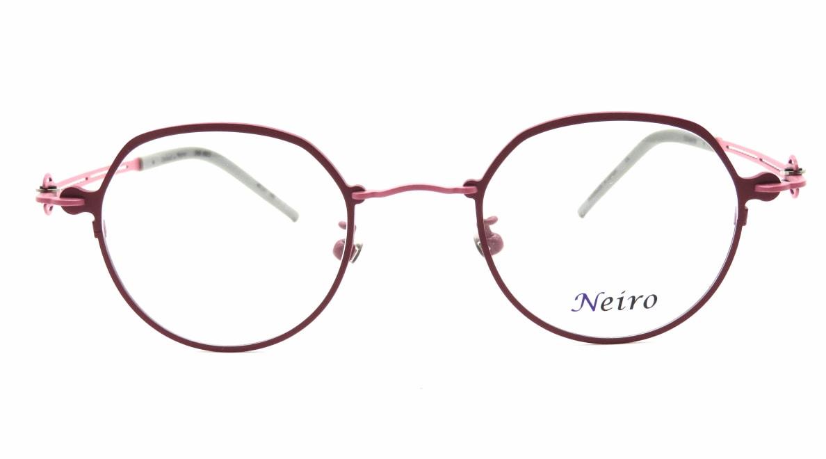 オンビートノネイロ ONB-N803-1ー45 [メタル/鯖江産/丸メガネ/紫]