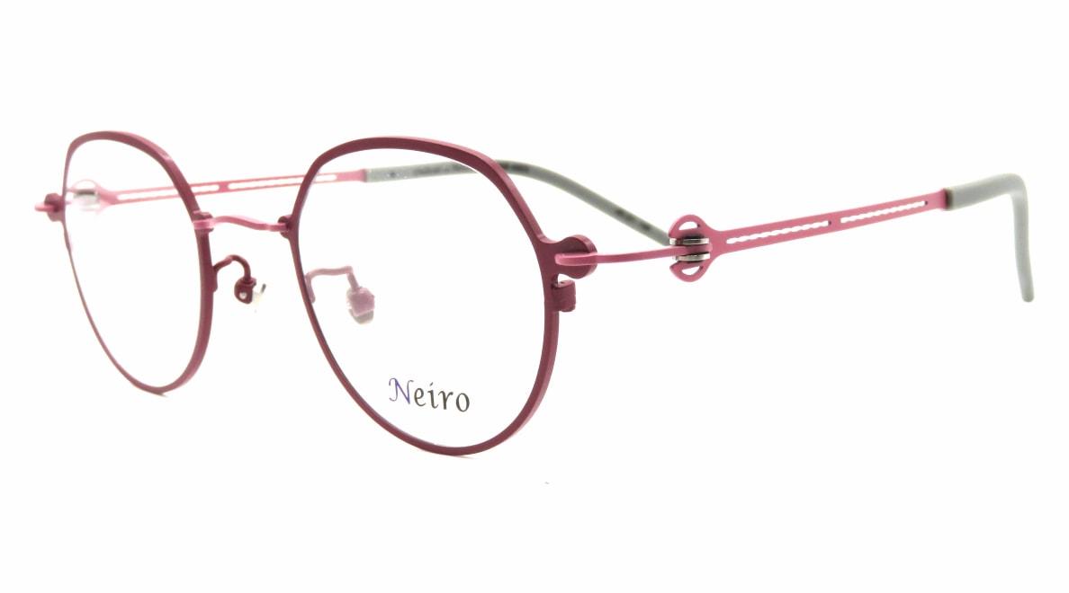 オンビートノネイロ ONB-N803-1ー45 [メタル/鯖江産/丸メガネ/紫]  1