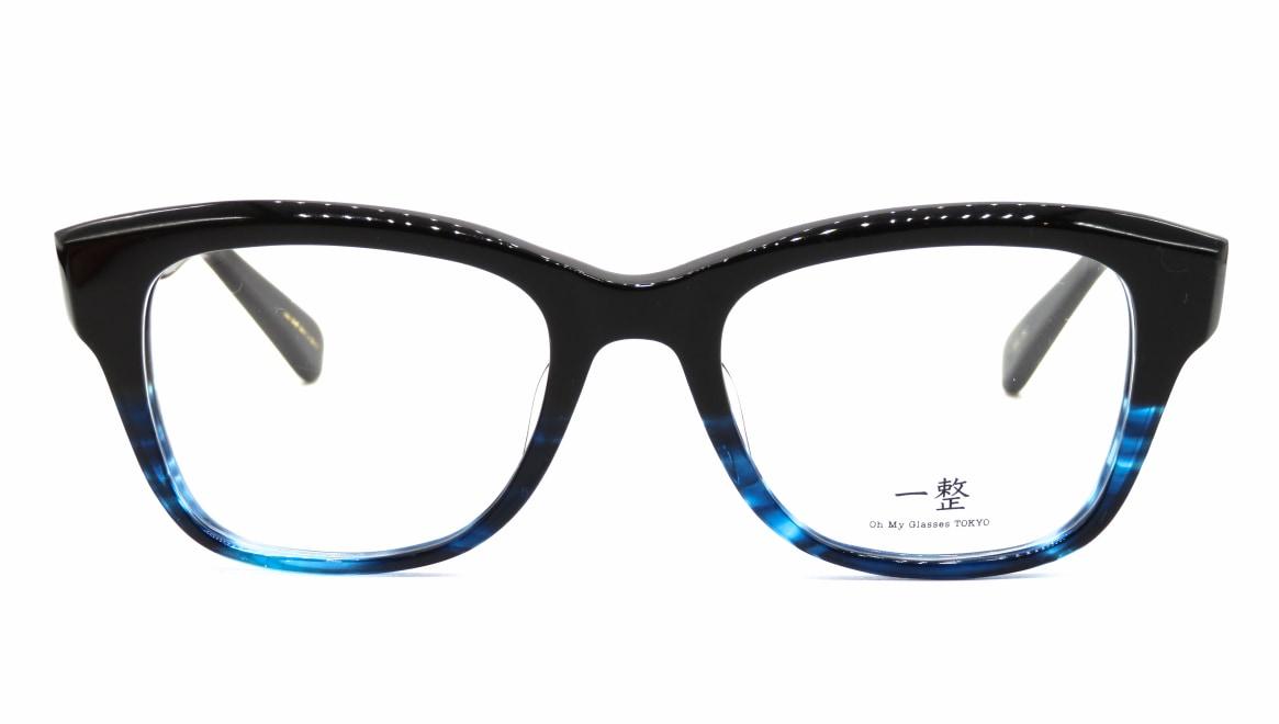 Oh My Glasses TOKYO 一整 ISSEY-01-BK-BL-51 [黒縁/鯖江産/ウェリントン]