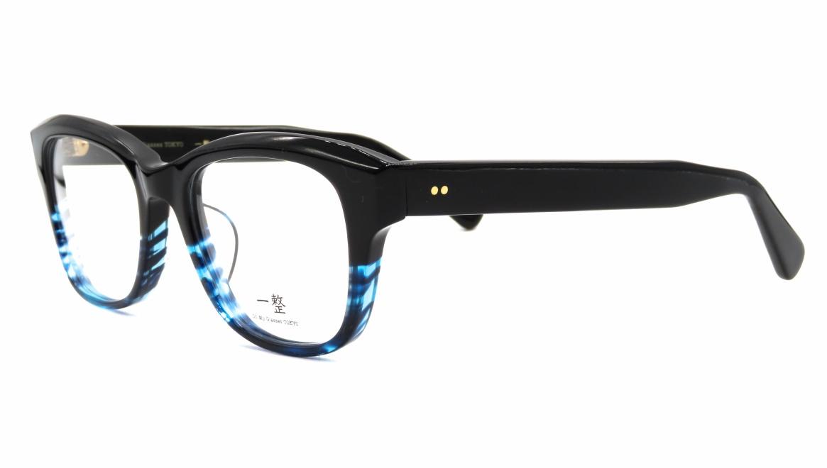 Oh My Glasses TOKYO 一整 ISSEY-01-BK-BL-51 [黒縁/鯖江産/ウェリントン]  1