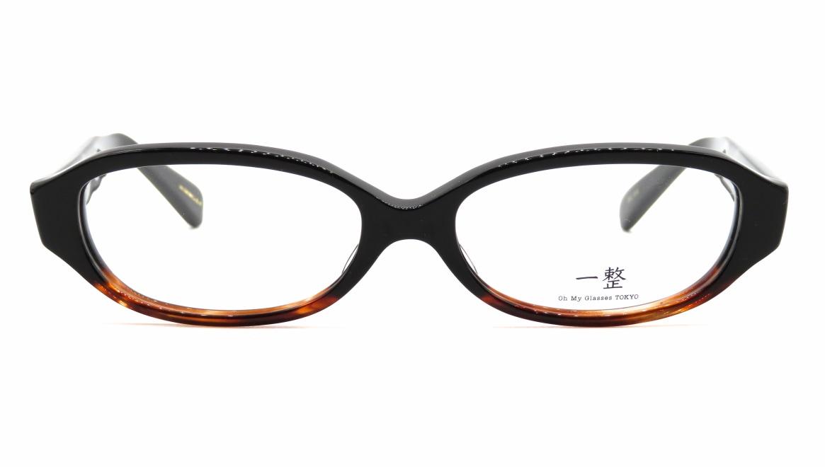 Oh My Glasses TOKYO 一整 ISSEY-02-BK-BR-54 [黒縁/鯖江産/オーバル]