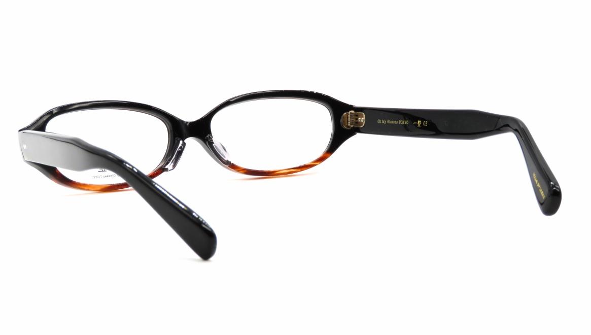 Oh My Glasses TOKYO 一整 ISSEY-02-BK-BR-54 [黒縁/鯖江産/オーバル]  3