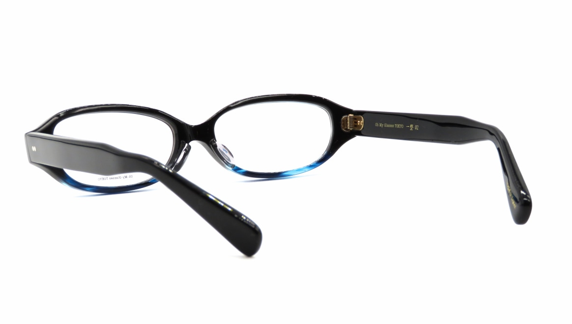Oh My Glasses TOKYO 一整 ISSEY-02-BK-BL-54 [黒縁/鯖江産/オーバル]  3