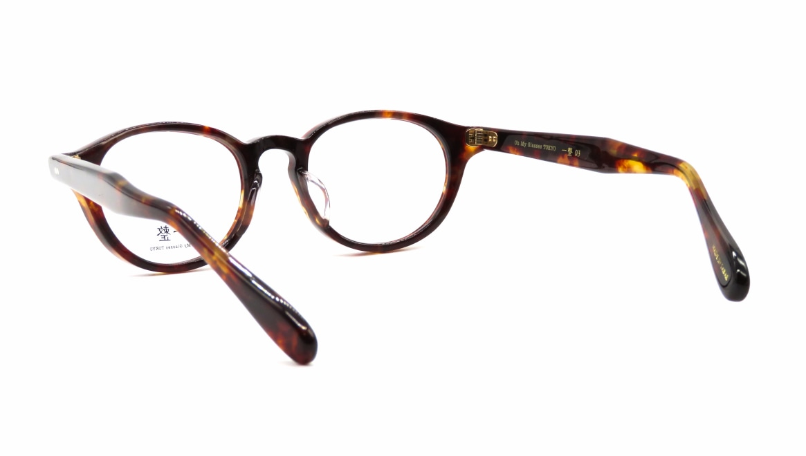 Oh My Glasses TOKYO 一整 ISSEY-03-DM-47 [鯖江産/丸メガネ/べっ甲柄]  3