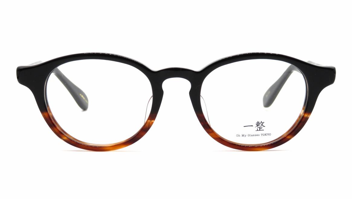 Oh My Glasses TOKYO 一整 ISSEY-03-BK-BR-47 [黒縁/鯖江産/丸メガネ]