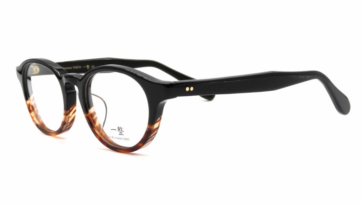 Oh My Glasses TOKYO 一整 ISSEY-03-BK-BR-47 [黒縁/鯖江産/丸メガネ]  1
