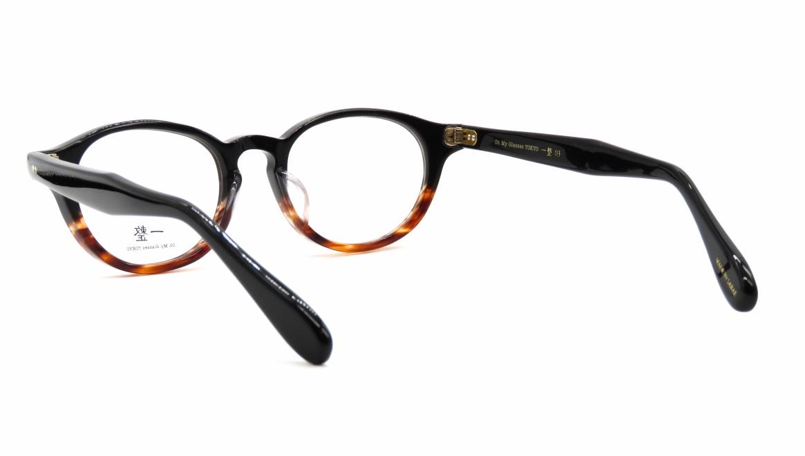 Oh My Glasses TOKYO 一整 ISSEY-03-BK-BR-47 [黒縁/鯖江産/丸メガネ]  3