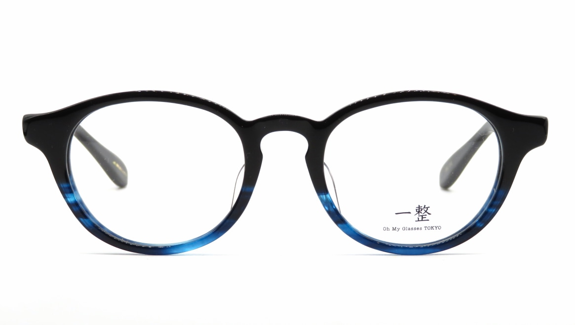 Oh My Glasses TOKYO 一整 ISSEY-03-BK-BL-47 [黒縁/鯖江産/丸メガネ]