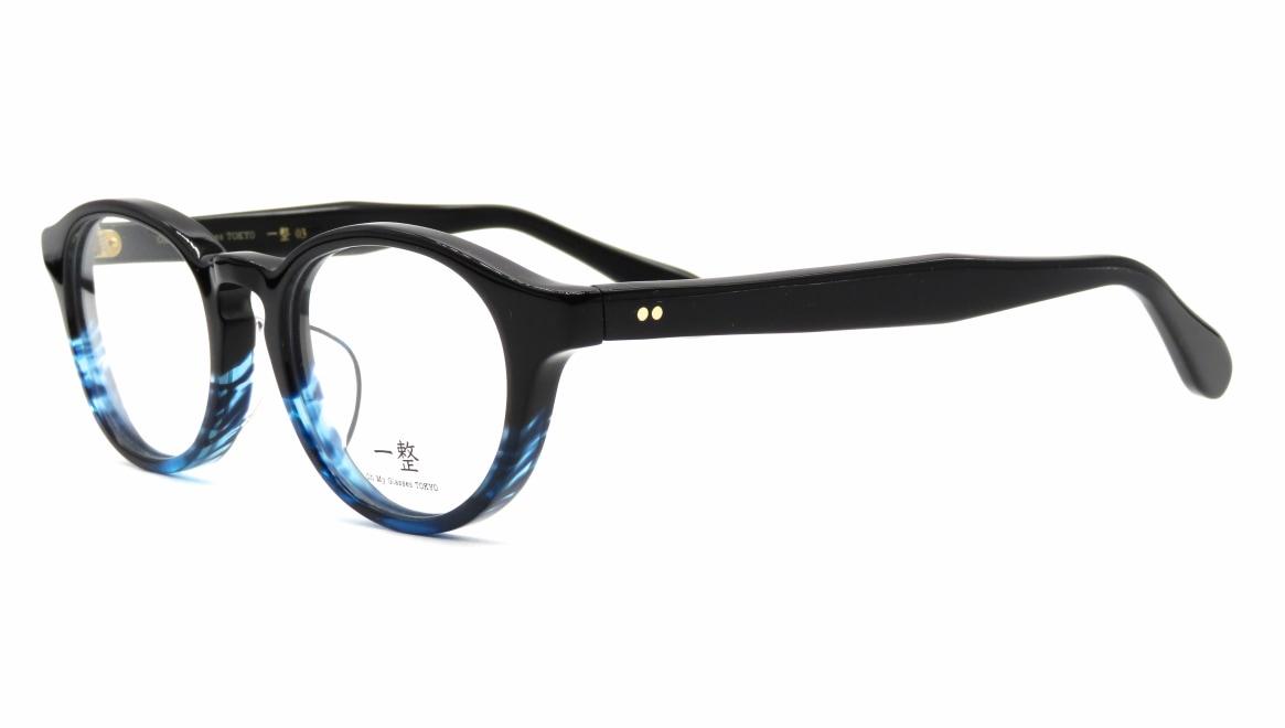 Oh My Glasses TOKYO 一整 ISSEY-03-BK-BL-47 [黒縁/鯖江産/丸メガネ]  1