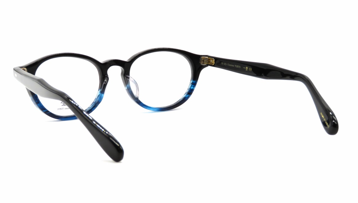 Oh My Glasses TOKYO 一整 ISSEY-03-BK-BL-47 [黒縁/鯖江産/丸メガネ]  3