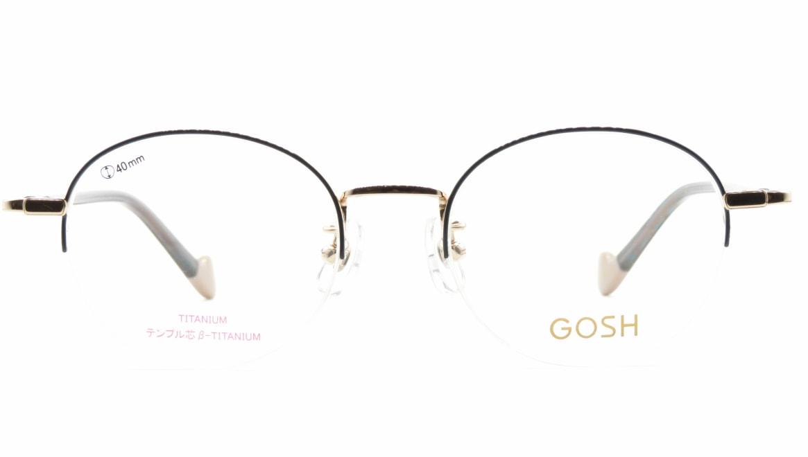 ゴッシュ GO-2010-1ー47 [メタル/ハーフリム/丸メガネ/青]