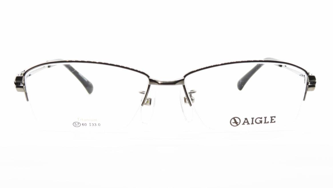 エーグル AG1134-2-57 [メタル/ハーフリム/スクエア/シルバー]