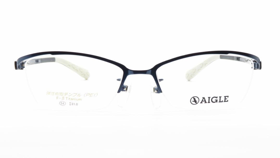 エーグル AG1138-1-54 [メタル/ハーフリム/スクエア/青]