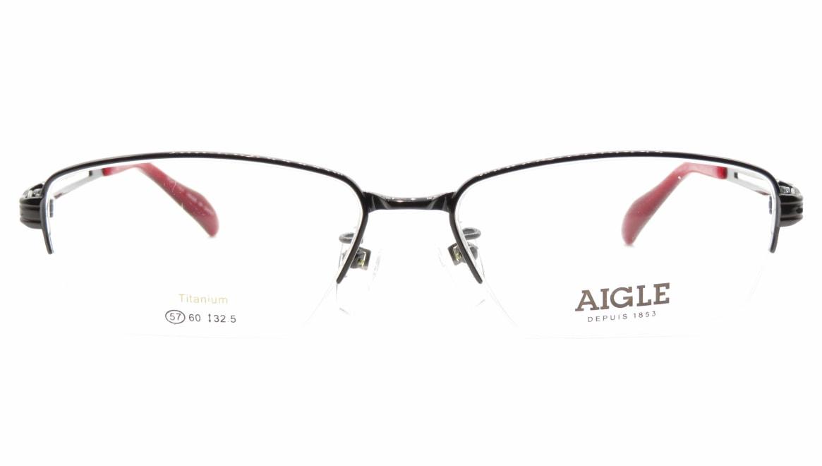 エーグル AG1144-2-57 [メタル/ハーフリム/スクエア]