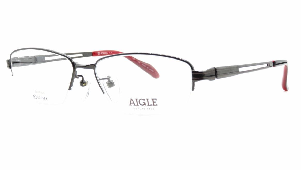 エーグル AG1144-2-57 [メタル/ハーフリム/スクエア]  1