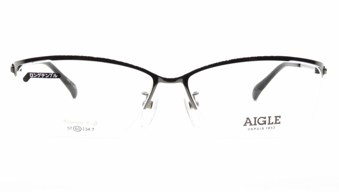 エーグル AG1146-1-60 [メタル/ハーフリム/スクエア/シルバー]