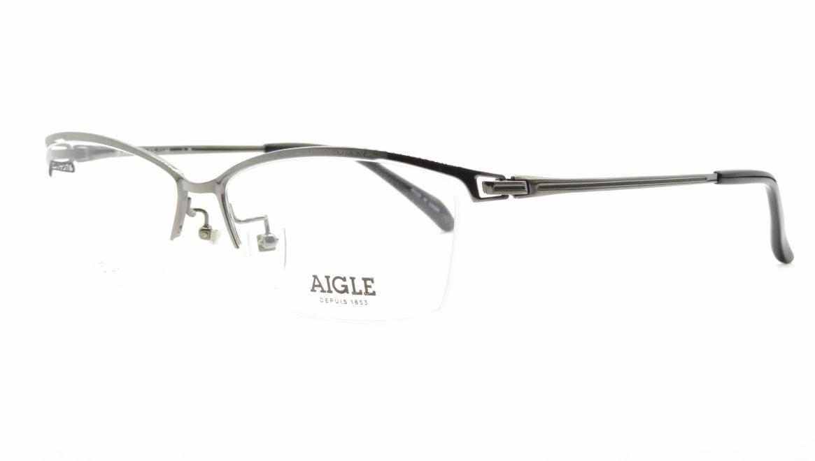 エーグル AG1146-1-60 [メタル/ハーフリム/スクエア/シルバー]  1