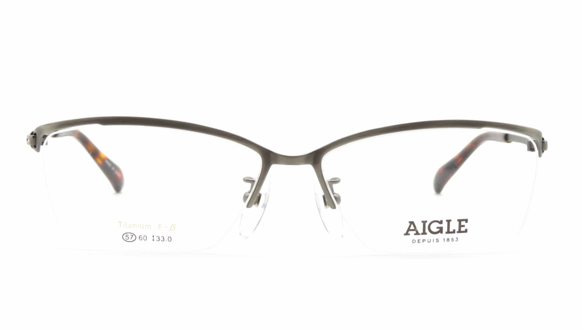エーグル AG1146-2-57 [メタル/ハーフリム/スクエア/シルバー]