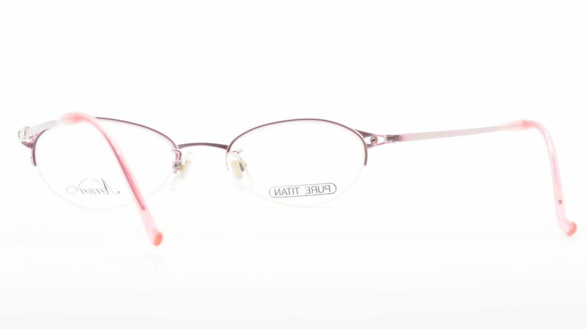 ナナ N-027-PK [メタル/鯖江産/ハーフリム/オーバル/ピンク]  3