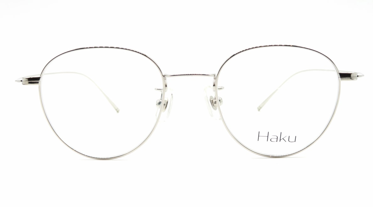 ハク Haku-01-SIL-47-18-146 [メタル/鯖江産/丸メガネ/シルバー]