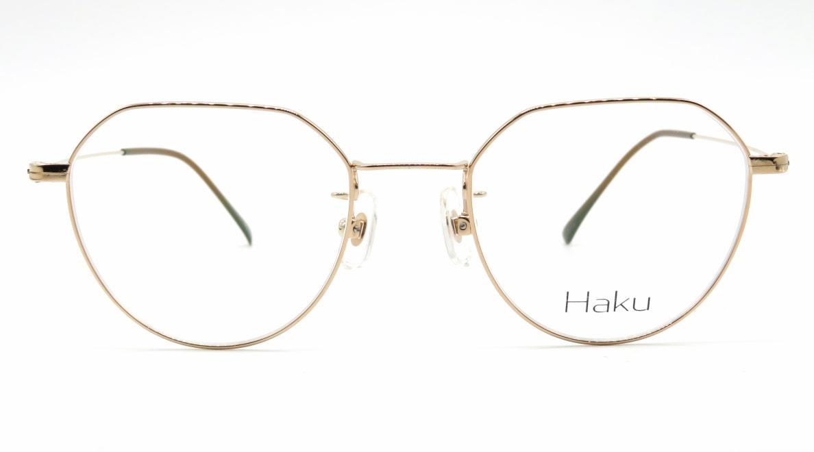 ハク Haku-02-GLD-48-18-146 [メタル/鯖江産/丸メガネ/ゴールド]