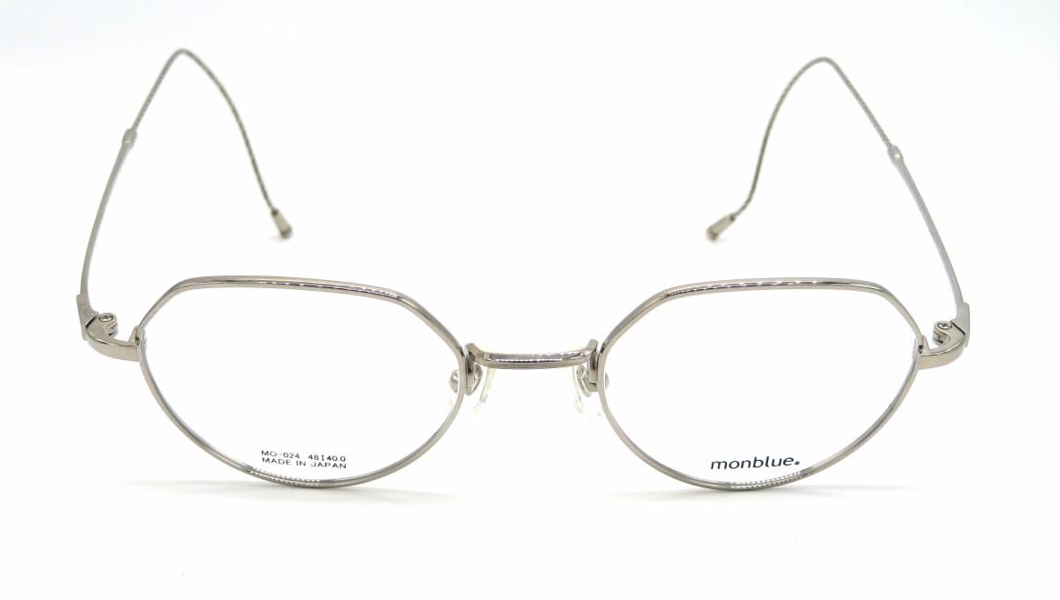 モンブルー 024-7-48 [メタル/鯖江産/丸メガネ/シルバー]  1