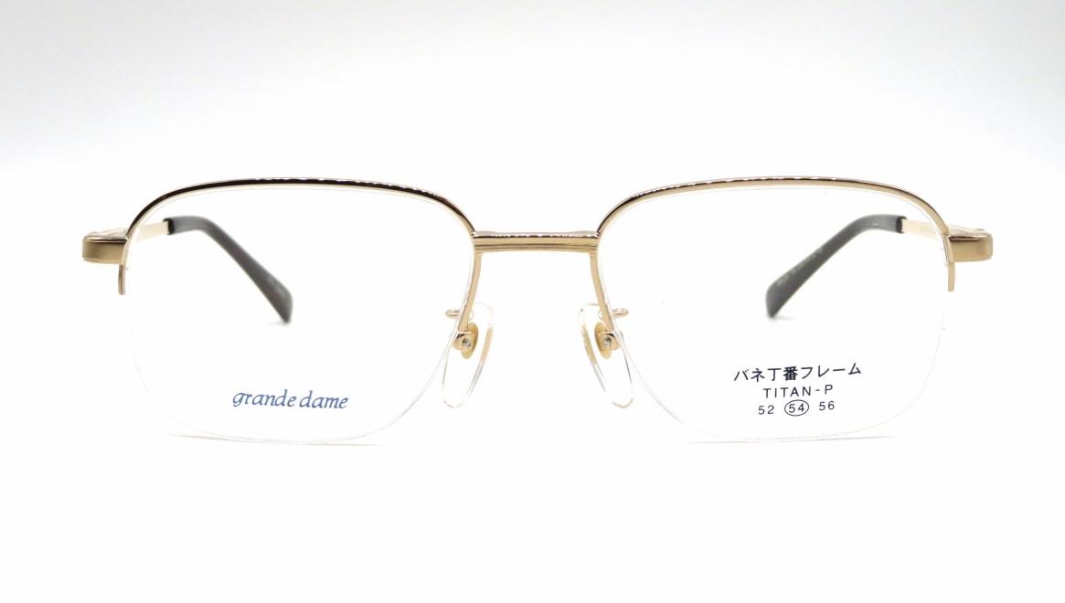 グランダム VT-281-C-5-54 [メタル/鯖江産/ハーフリム/ウェリントン/ゴールド]