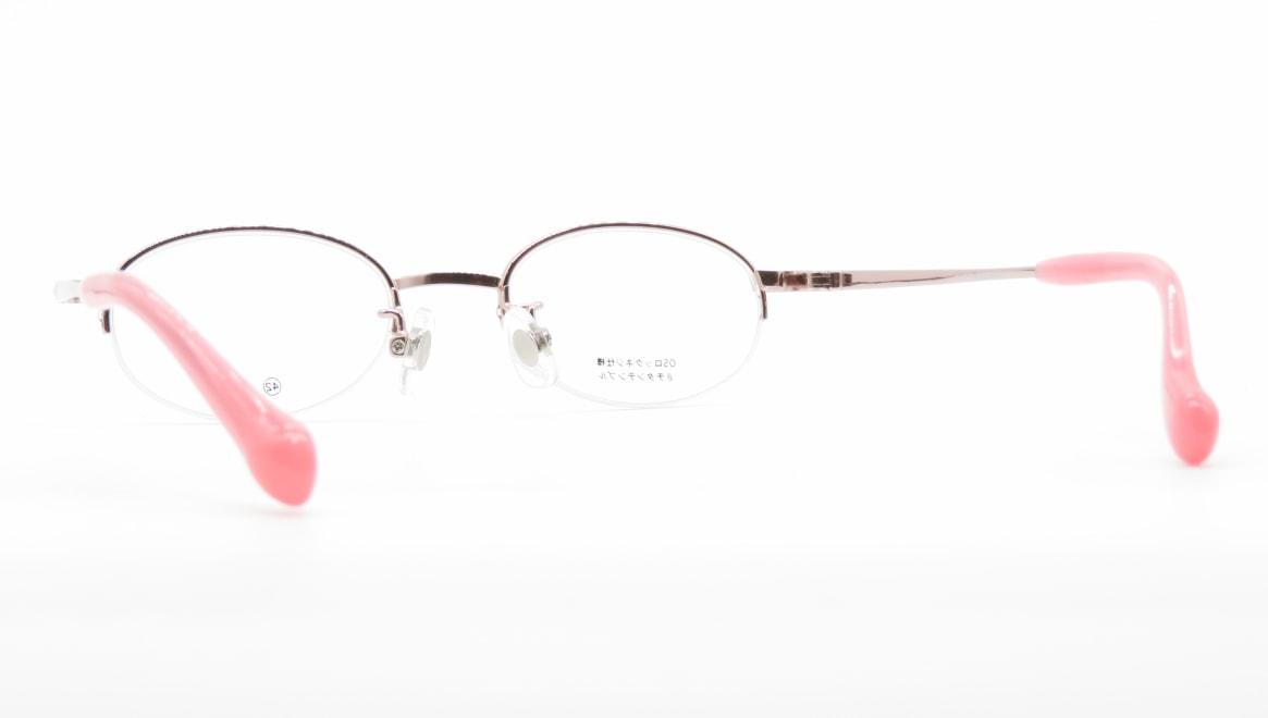 スキップ S-59-C-1-42 [メタル/鯖江産/ハーフリム/オーバル/ピンク]  3