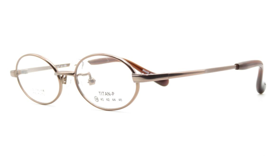 スキップ S-55-C-4-38 [メタル/鯖江産/オーバル/茶色]  1