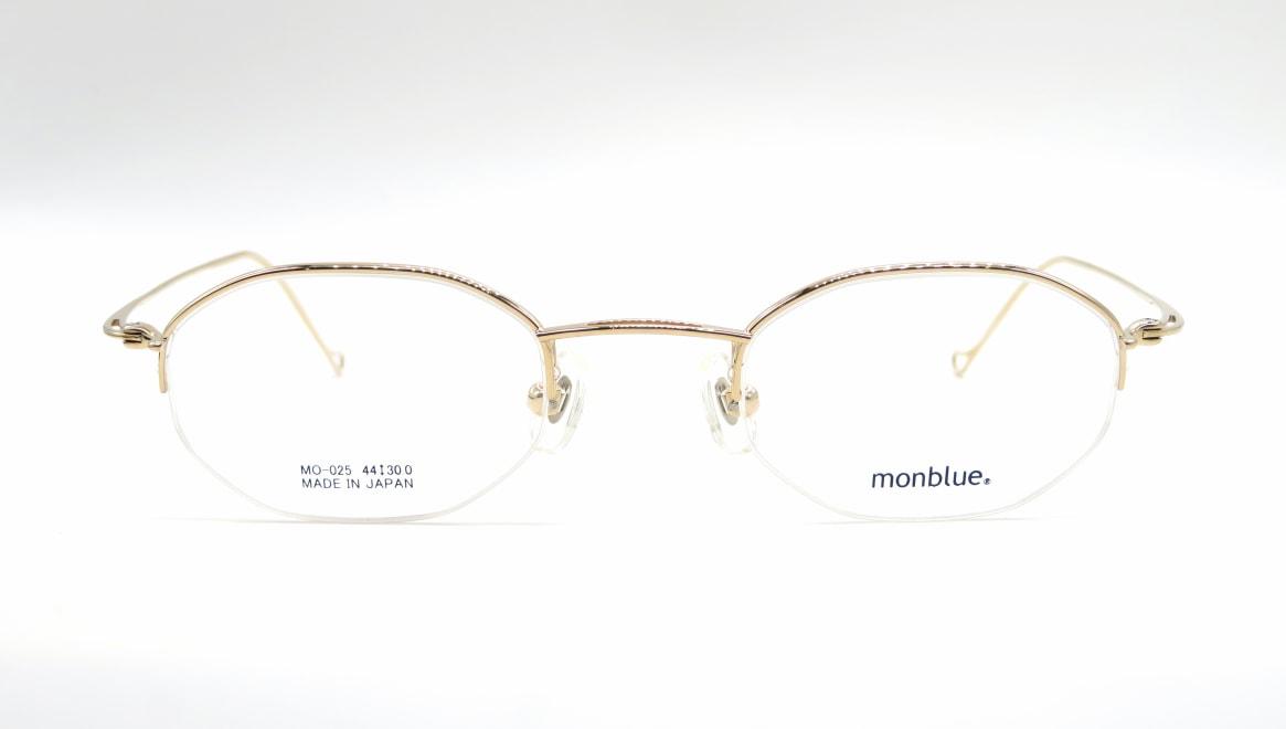 モンブルー MO-025-1-44 [メタル/鯖江産/ハーフリム/オーバル/ゴールド]