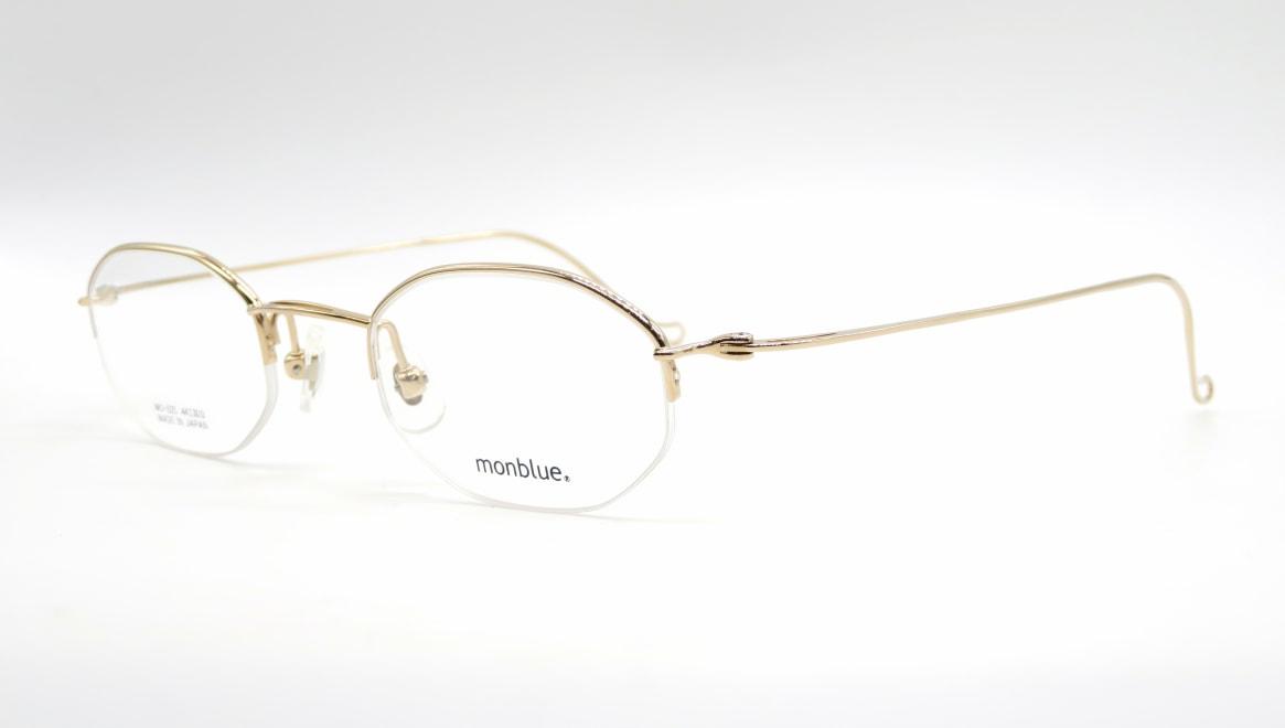 モンブルー MO-025-1-44 [メタル/鯖江産/ハーフリム/オーバル/ゴールド]  1