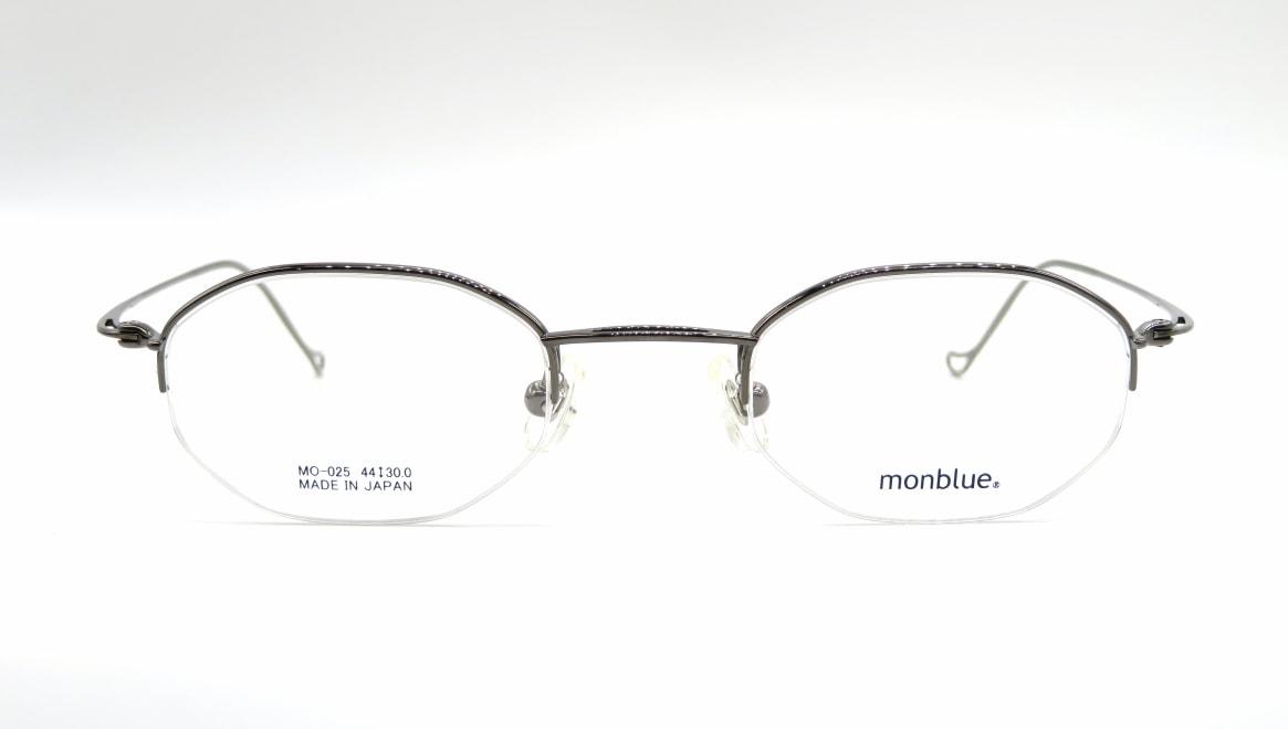 モンブルー MO-025-5-44 [メタル/鯖江産/ハーフリム/オーバル]