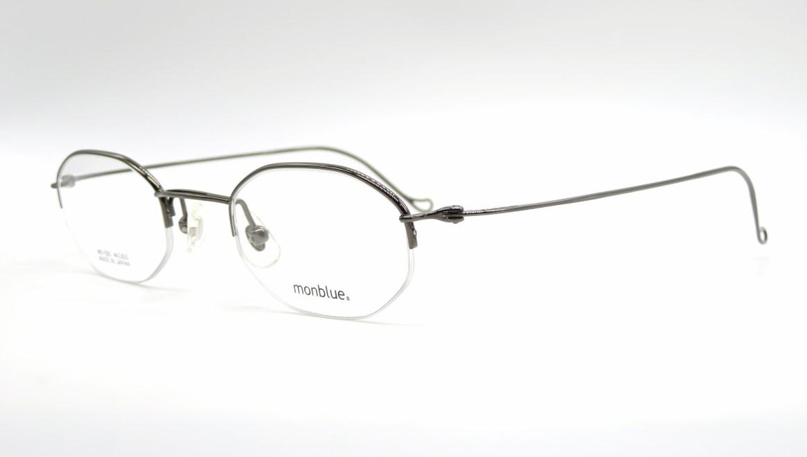 モンブルー MO-025-5-44 [メタル/鯖江産/ハーフリム/オーバル]  1