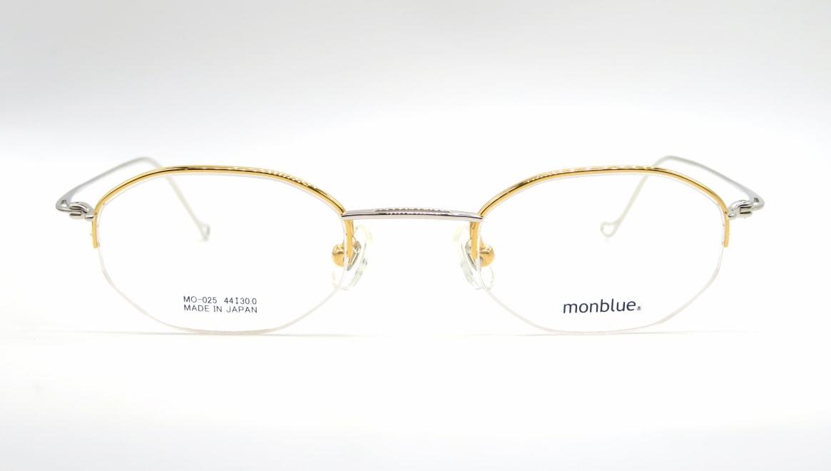モンブルー MO-025-7-44 [メタル/鯖江産/ハーフリム/オーバル/ゴールド]