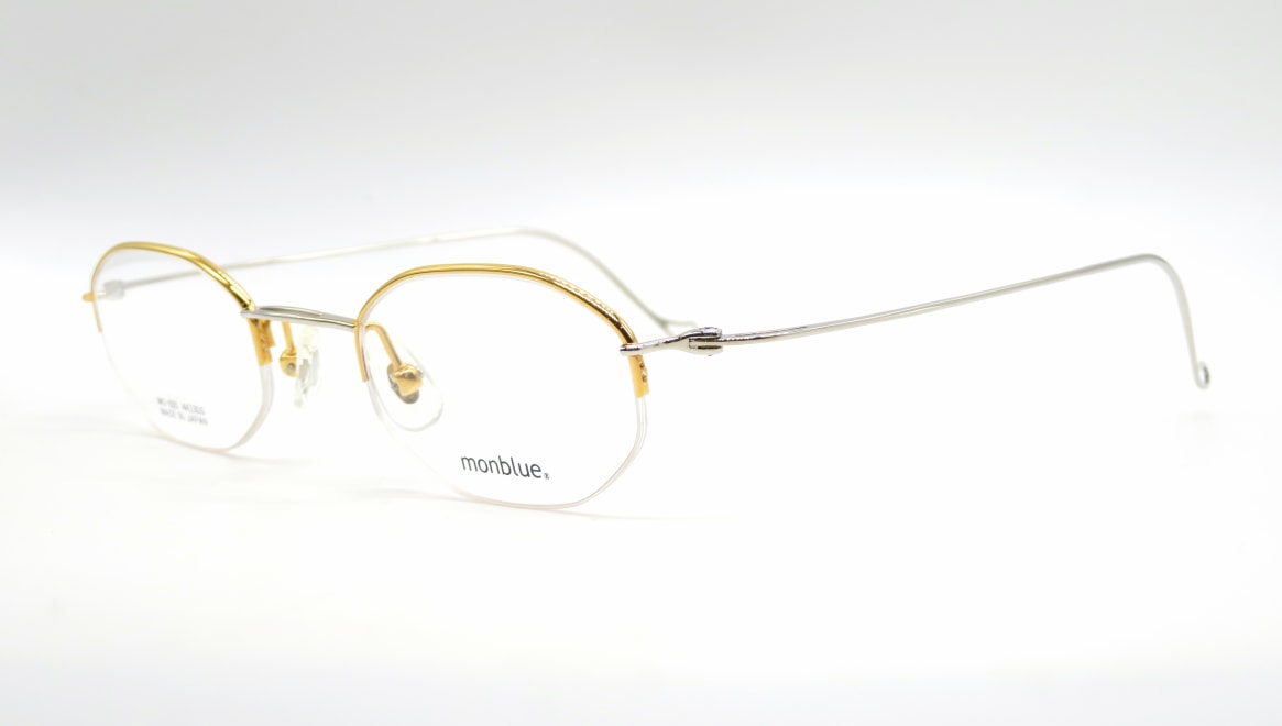 モンブルー MO-025-7-44 [メタル/鯖江産/ハーフリム/オーバル/ゴールド]  1