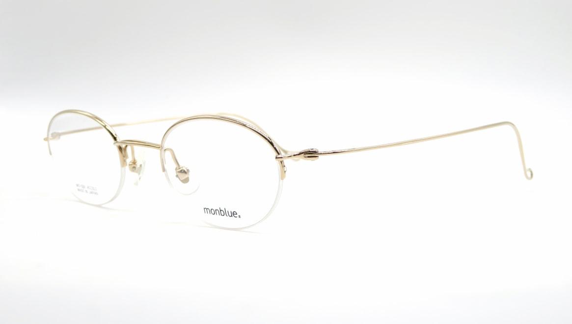 モンブルー MO-026-1-45 [メタル/鯖江産/ハーフリム/オーバル/ゴールド]  1