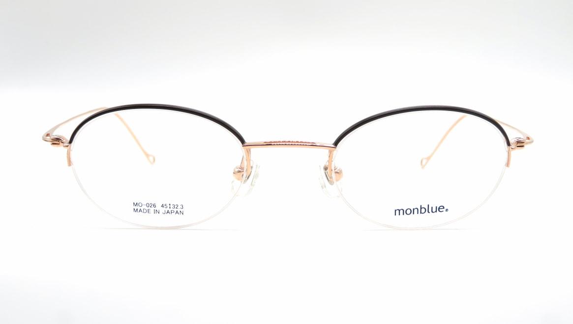 モンブルー MO-026-2-45 [メタル/鯖江産/ハーフリム/オーバル]
