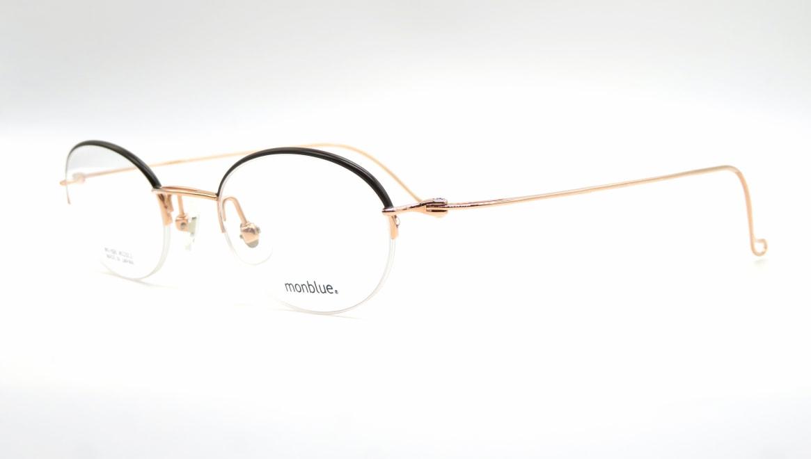 モンブルー MO-026-2-45 [メタル/鯖江産/ハーフリム/オーバル]  1