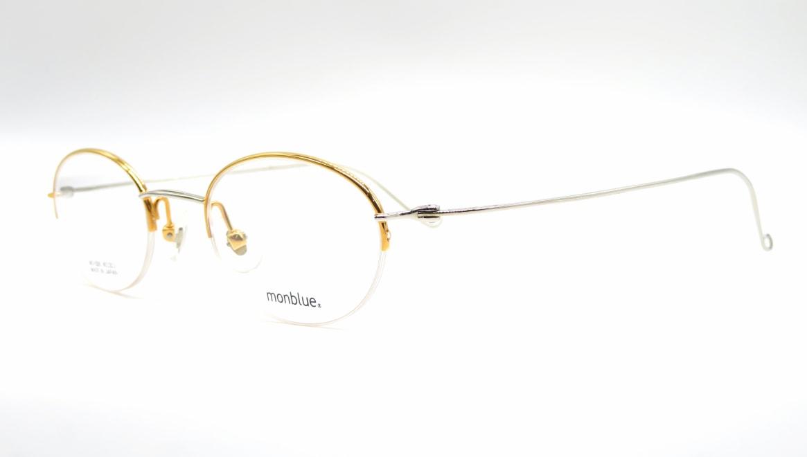 モンブルー MO-026-7-45 [メタル/鯖江産/ハーフリム/オーバル/ゴールド]  1